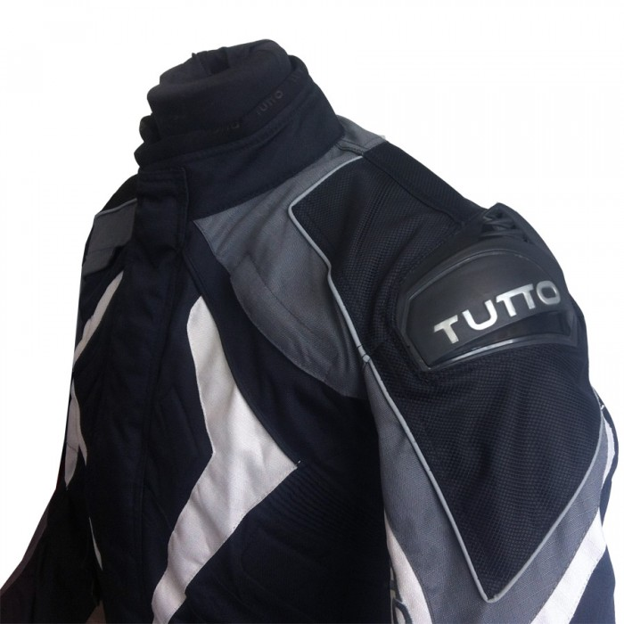 Jaqueta Tutto New Secca Cinza 100% Impermeável  - Nova Suzuki Motos e Acessórios