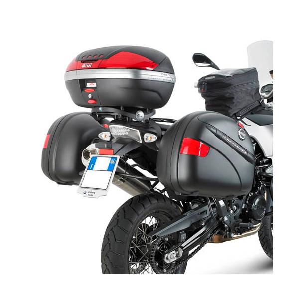 Suporte Lateral GIVI - PL690 p/ BMW F650 / F800 GS 08-13 (E21 e E22/E41/E360/TREKKER) - Pronta Entrega  - Nova Suzuki Motos e Acessórios