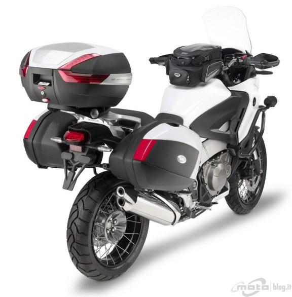 Baú Givi V47 Monokey Traseiro Lente Vermelha  - Nova Suzuki Motos e Acessórios