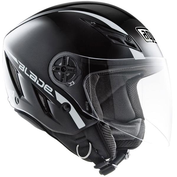 Capacete AGV Blade Mono Black (Brilhante) - Só 58  - Nova Suzuki Motos e Acessórios