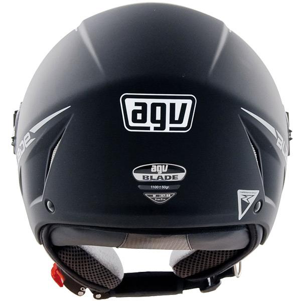 Capacete AGV Blade Mono Black Flatt (Fosco) Só 58/M  - Nova Suzuki Motos e Acessórios
