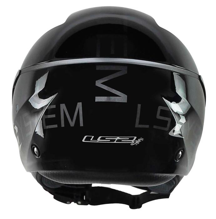 Capacete LS2 OF559 System - Preto  - Nova Suzuki Motos e Acessórios