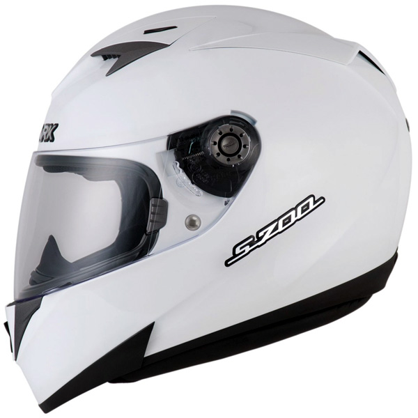 Capacete Shark S700 Prime WHU Branco  - Nova Suzuki Motos e Acessórios