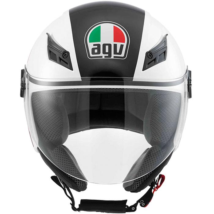 Capacete AGV Blade FX Branco/Vermelho  - Nova Suzuki Motos e Acessórios