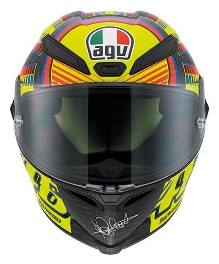 Capacete AGV Pista GP Rossi Soleluna - Super Oferta!  - Nova Suzuki Motos e Acessórios