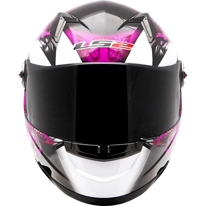 Capacete LS2 FF358 Chic Gloss White Feminino  - Nova Suzuki Motos e Acessórios