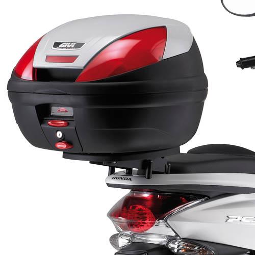 Base Givi E231M p/ Honda PCX - Baús Monolock  - Nova Suzuki Motos e Acessórios