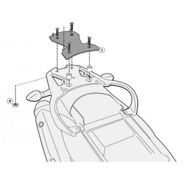 Suporte para base do baú Givi SR3101M (baú nacional) DL650 2014 - Pronta Entrega  - Nova Suzuki Motos e Acessórios