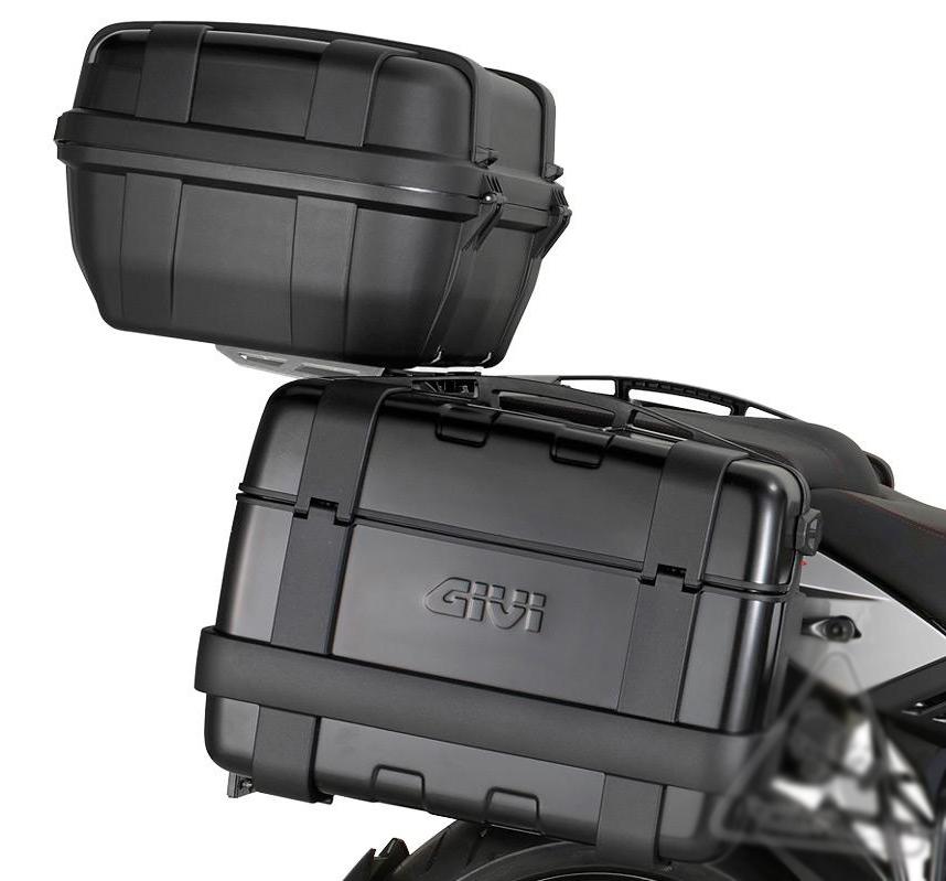 Baú Givi TREKKER ALUMINUM Black 33 LITROS (lateral ou traseiro)  - Nova Suzuki Motos e Acessórios