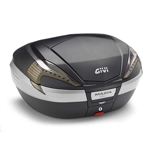 Baú Givi V56 Maxia 4 Carbono Fumê - NOVO!  - Nova Suzuki Motos e Acessórios