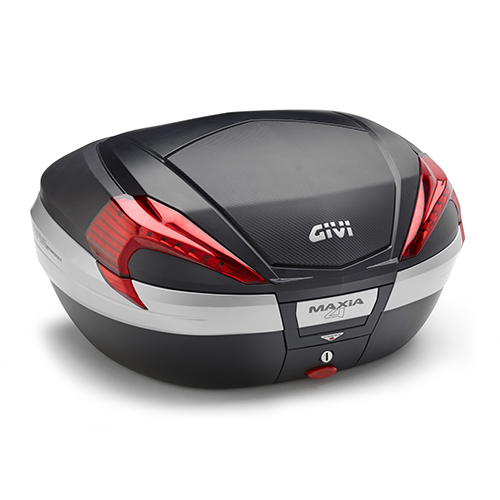 Baú Givi V56 Maxia 4 Carbono Vermelho - NOVO  - Nova Suzuki Motos e Acessórios