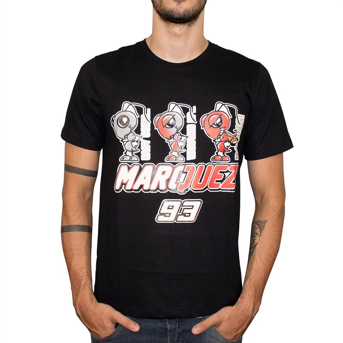 Camiseta SpeedRace Marc Marquez 93 Formiga Preta  - Nova Suzuki Motos e Acessórios