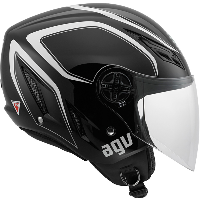Capacete AGV Blade Tab Black (Brilhante)  - Nova Suzuki Motos e Acessórios
