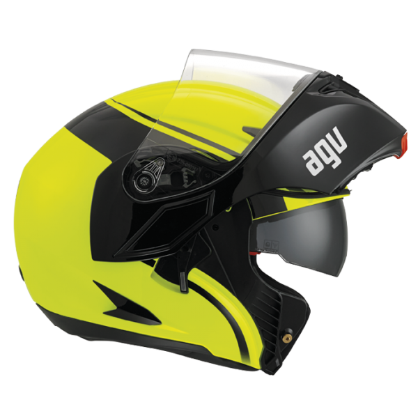 Capacete AGV Compact Course  YEL/ BLK  (só 62)  - Nova Suzuki Motos e Acessórios