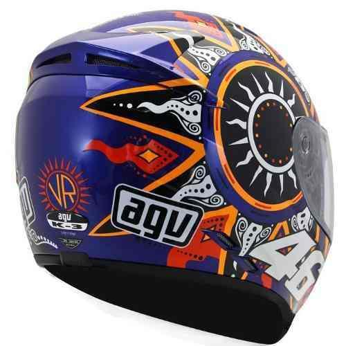 Capacete AGV K-3 Moto GP BLU Valentino Rossi   - Nova Suzuki Motos e Acessórios