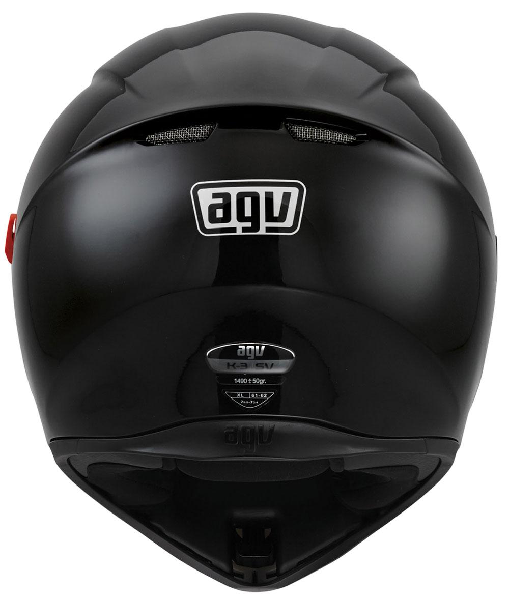Capacete AGV K-3 SV Mono Black (Com Viseira Solar)   - Nova Suzuki Motos e Acessórios