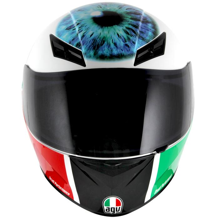 Capacete AGV K-3 Valentino´s Eye Réplica Oficial Valentino Rossi  - Nova Suzuki Motos e Acessórios