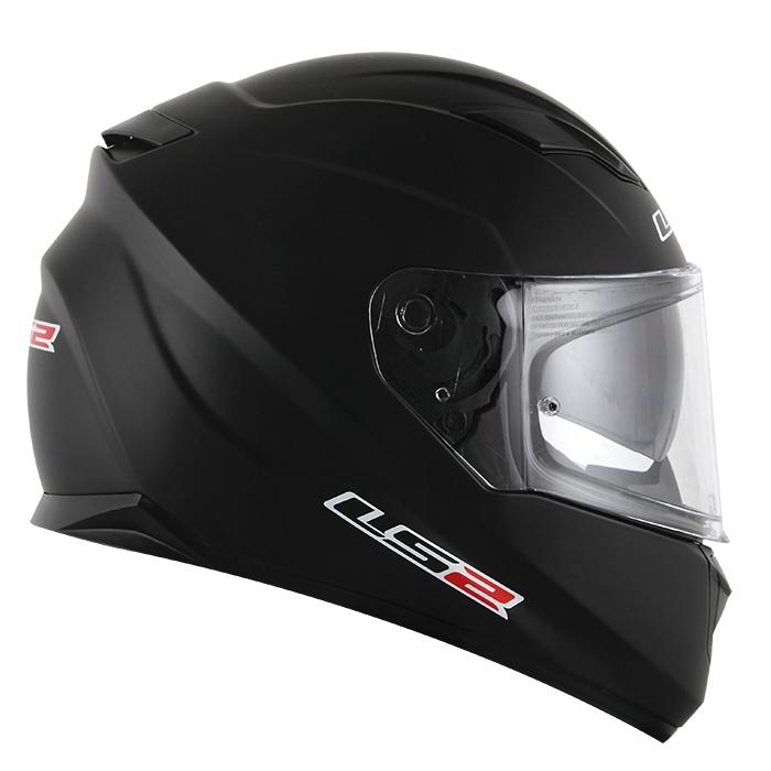 Capacete LS2  Stream (FF320) Monocolor (C/ Viseira solar) Matt Preto  - Nova Suzuki Motos e Acessórios
