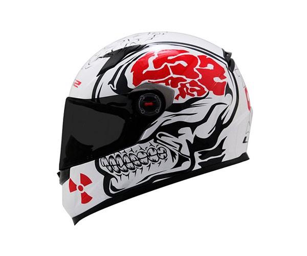 Capacete LS2 FF358 Crazy Skull WHT/BLK  - Nova Suzuki Motos e Acessórios