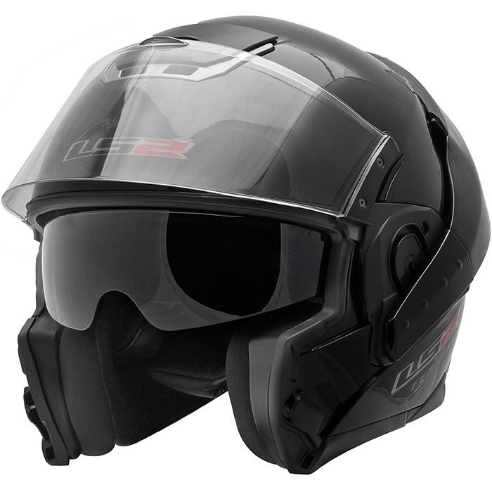 Capacete LS2 FF393 Convert Gloss Black - NOVO!  - Nova Suzuki Motos e Acessórios