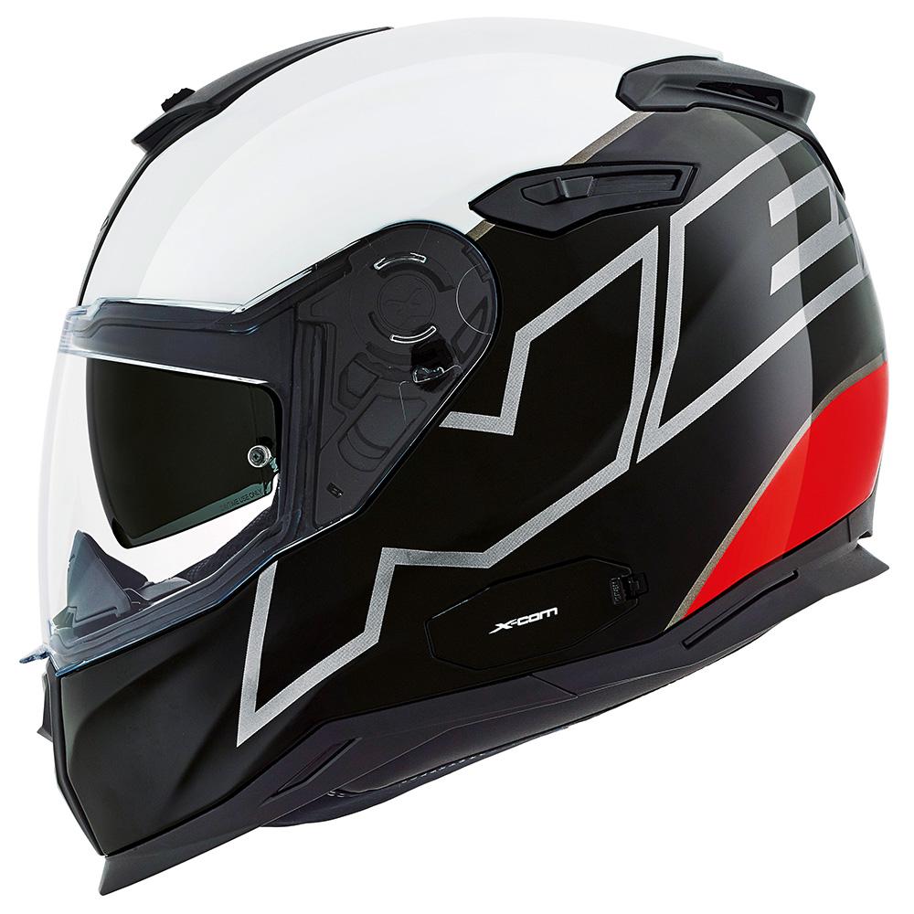 Capacete Nexx SX100 - ORION - Branco/Preto/Vermelho Com Viseira Solar  - Nova Suzuki Motos e Acessórios