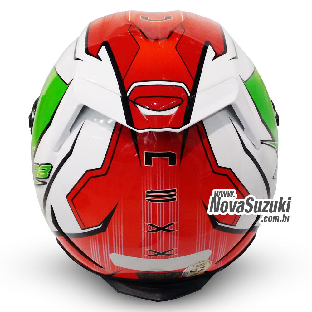 Capacete Nexx XR2 Vortex Verde Itália - Tri-Composto - Ganhe Viseira Fumê e Pinlock  - Nova Suzuki Motos e Acessórios