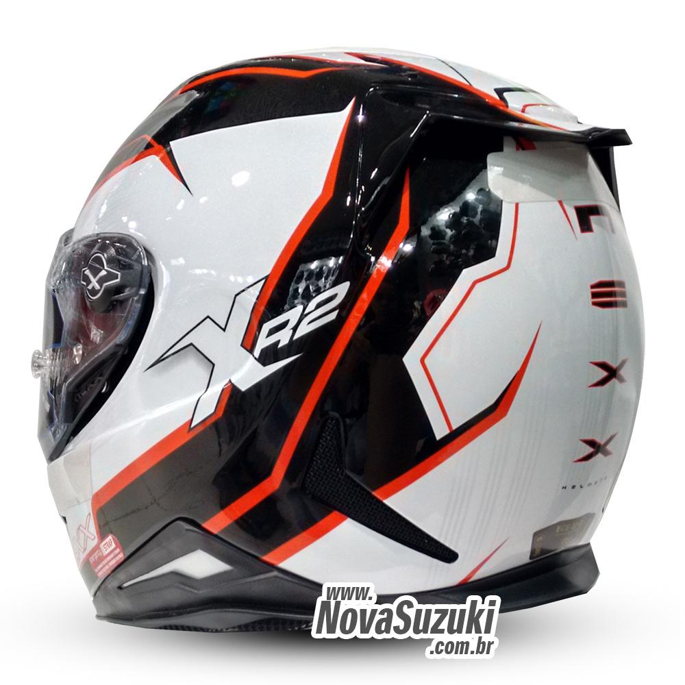 *Capacete Nexx XR2 Vortex Vermelho - Tri-Composto - Ganhe Viseira Fumê e Pinlock  - Nova Suzuki Motos e Acessórios
