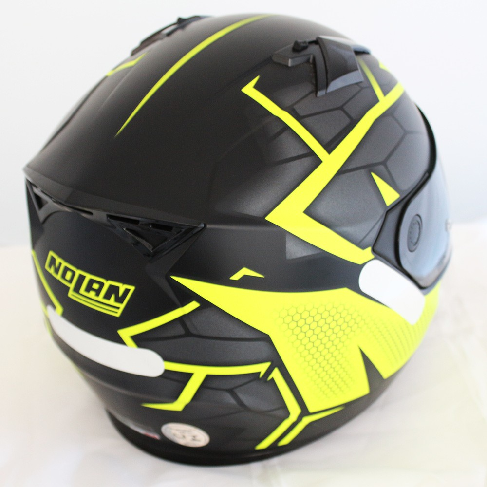 Capacete Nolan N64 Hexagon Flat Black - Ganhe Touca Balaclava  - Nova Suzuki Motos e Acessórios