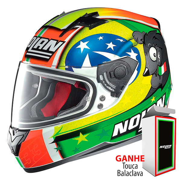 Capacete Nolan N64 Réplica Melandri - Ganhe Balaclava Exclusiva!  - Nova Suzuki Motos e Acessórios