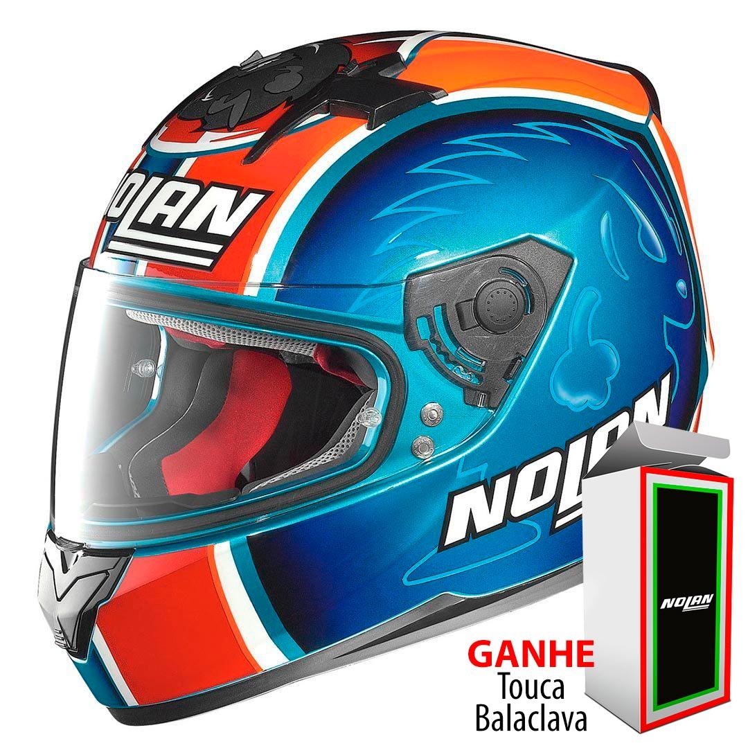 Capacete Nolan N64 Réplica Melandri Pearl Blue - Ganhe Balaclava Exclusiva!  - Nova Suzuki Motos e Acessórios