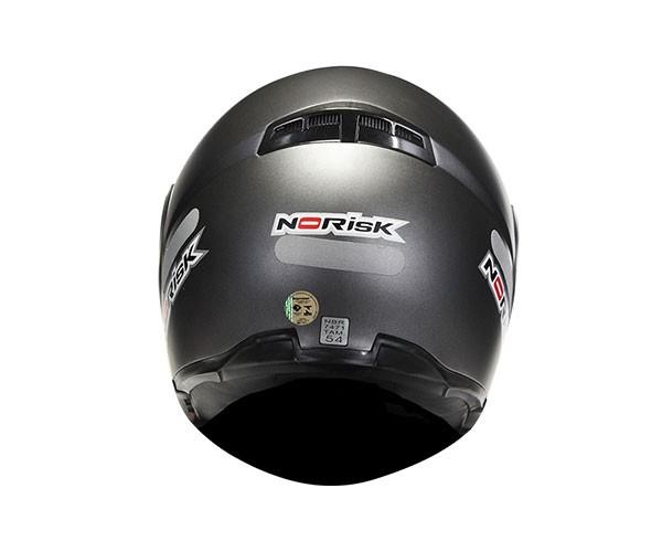 Capacete NoRisk FF370 Monocolor Matt Titanium Escamoteável - COM VÍDEO  - Nova Suzuki Motos e Acessórios