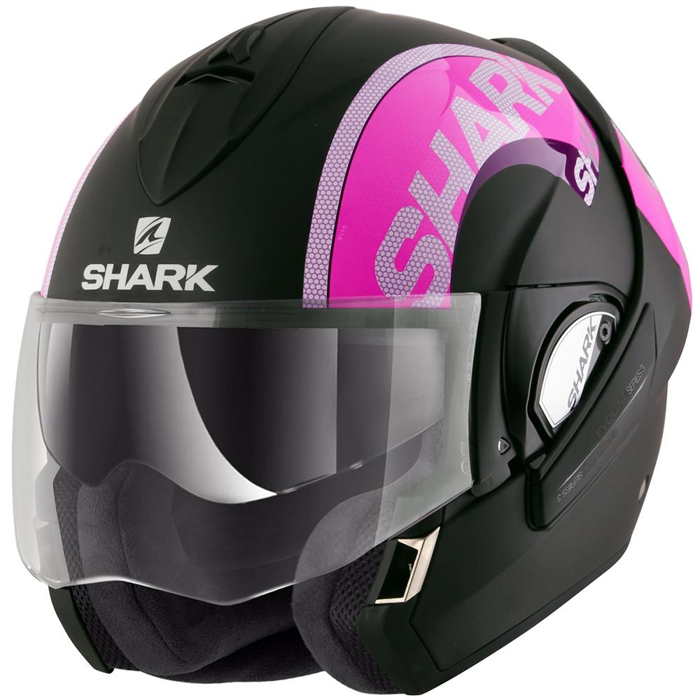 Capacete Shark Evoline Serie 3 Drop Dual KVS Escamoteável  - Nova Suzuki Motos e Acessórios