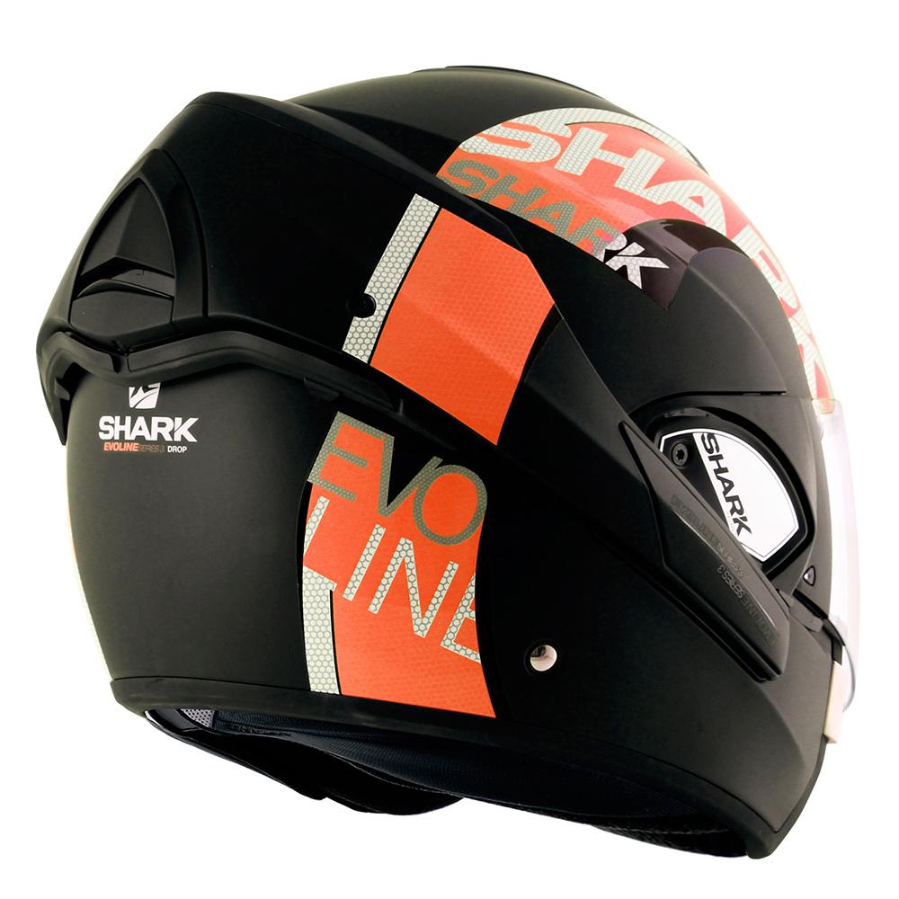 Capacete Shark Evoline Serie 3 Drop Matt KOK Laranja Escamoteável  - Nova Suzuki Motos e Acessórios