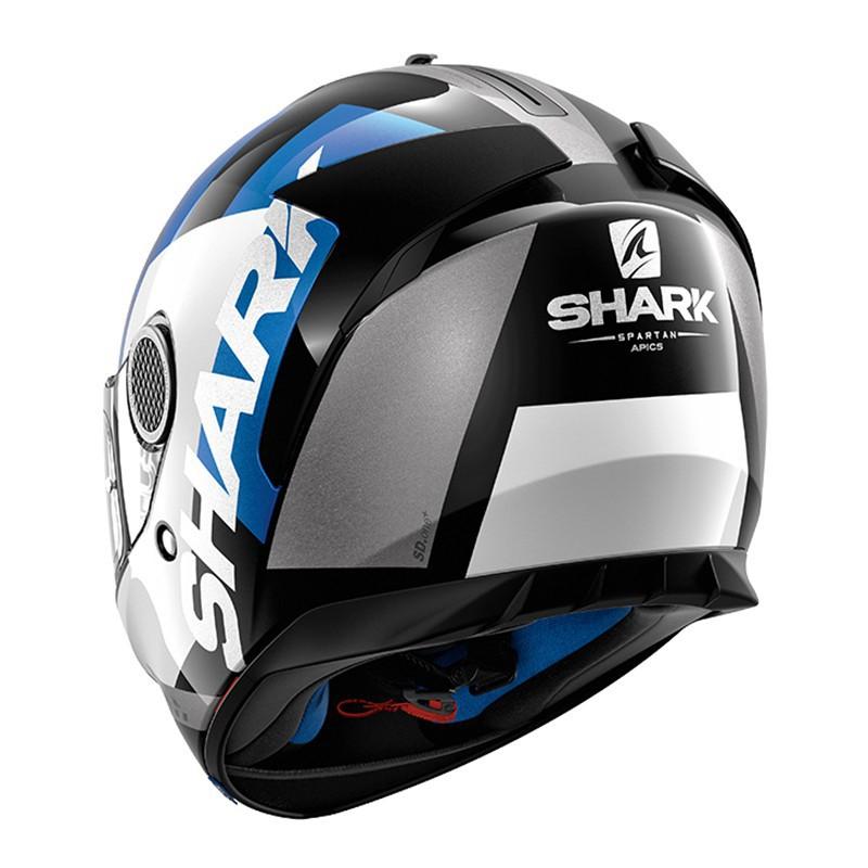 Capacete Shark Spartan APIC SS P WBR  - Nova Suzuki Motos e Acessórios