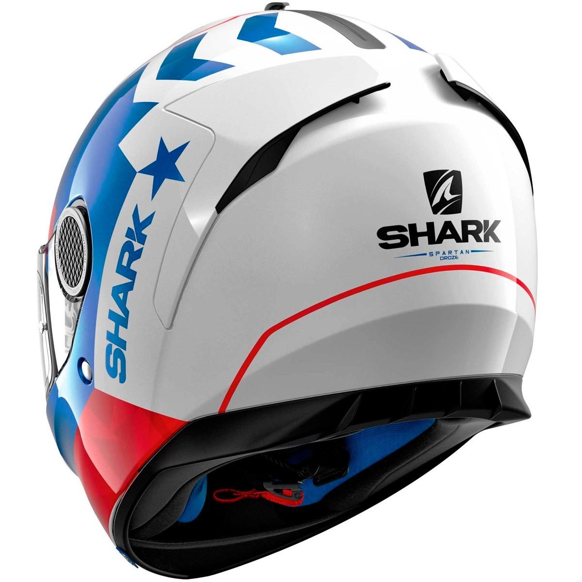 Capacete Shark Spartan Droze SS P WBR  - Nova Suzuki Motos e Acessórios