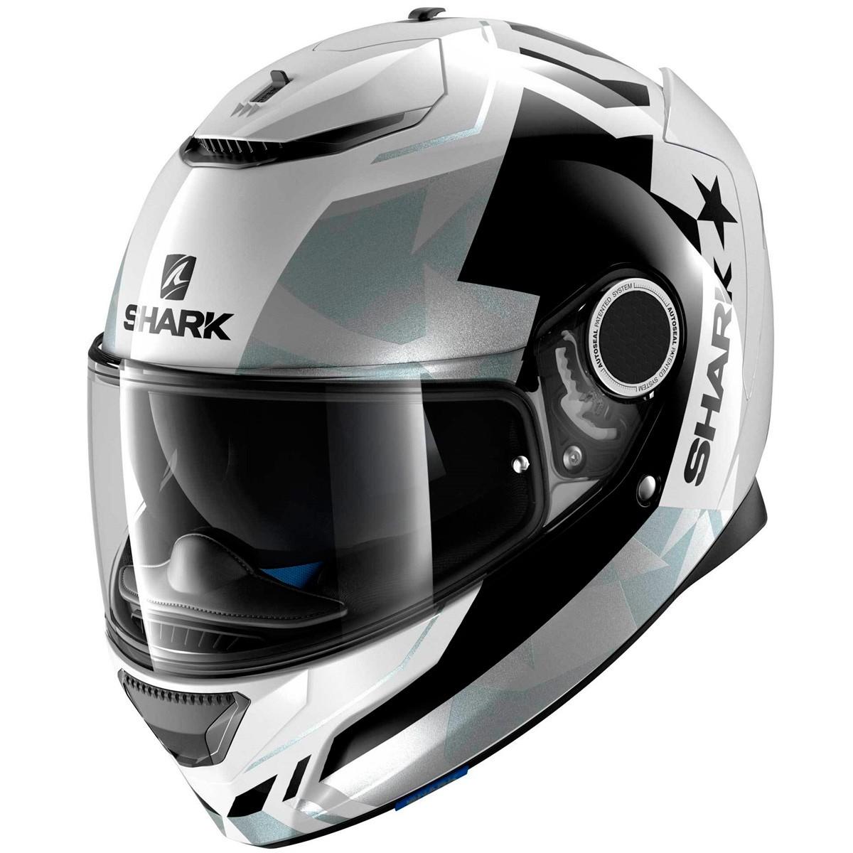 Capacete Shark Spartan Droze SS P WKS  - Nova Suzuki Motos e Acessórios