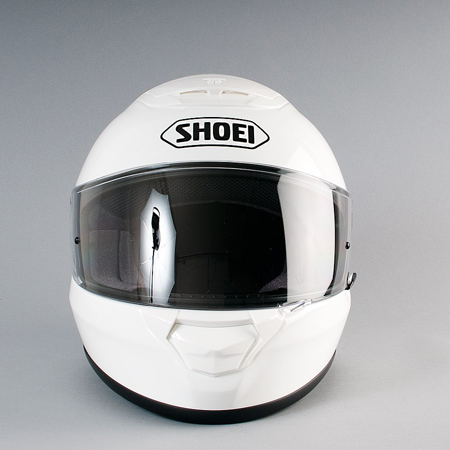 Capacete Shoei Qwest Branco Liso  - Nova Suzuki Motos e Acessórios