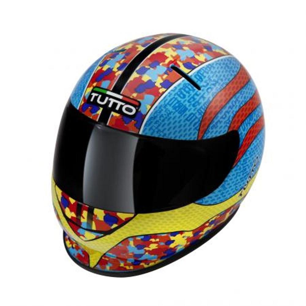 Cofrinho Capacete Tutto Moto Multicolor - Miniatura Capacete  - Nova Suzuki Motos e Acessórios