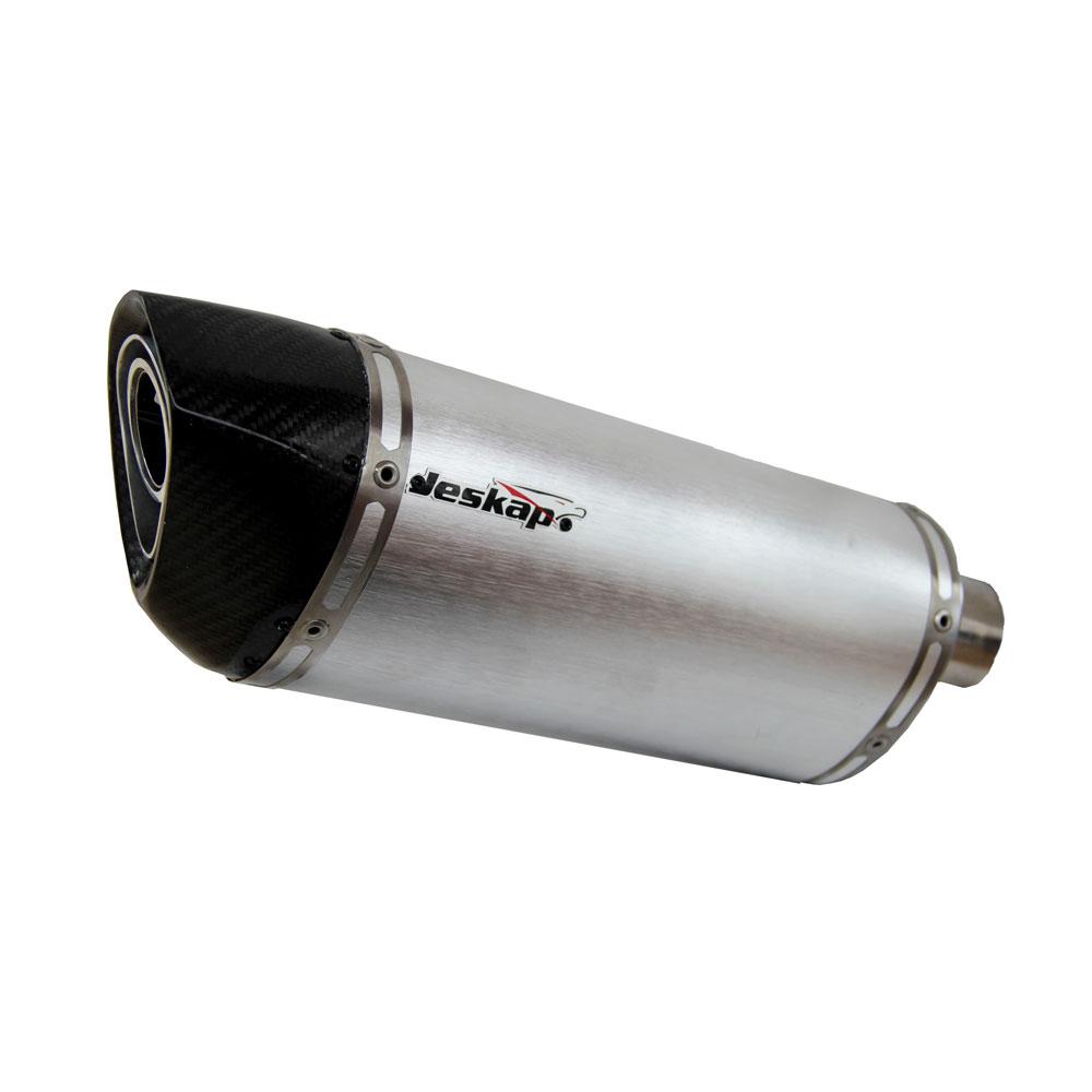 "Escapamento Jeskap Three 4´ Alumínio"" Kawasaki (Alum. Preto/Carbono)  - Nova Suzuki Motos e Acessórios"