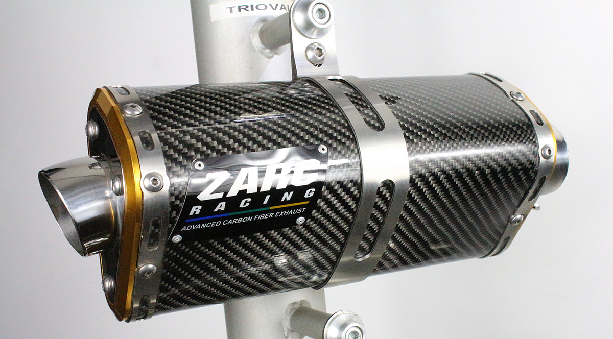Escapamento Zarc Tri-Oval Para BANDIT INJETADA 650/1250  - Nova Suzuki Motos e Acessórios