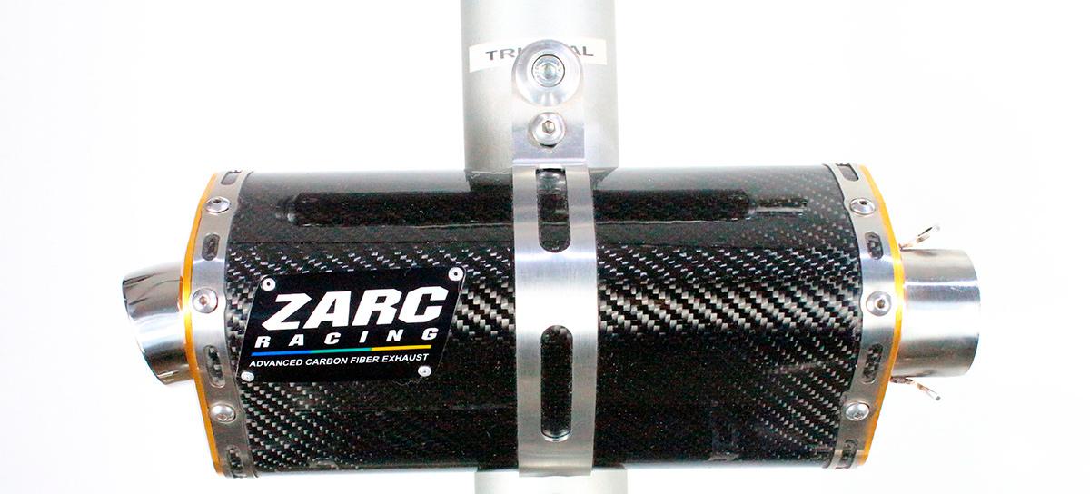 Escapamento Zarc Tri-Oval Para Suzuki SRAD 750 2011/2013  - Nova Suzuki Motos e Acessórios