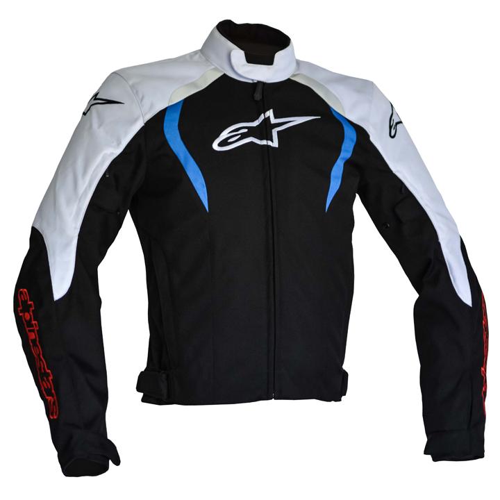 Jaqueta Alpinestars Alux WP (Black/White/Blue) - LANÇAMENTO  - Nova Suzuki Motos e Acessórios