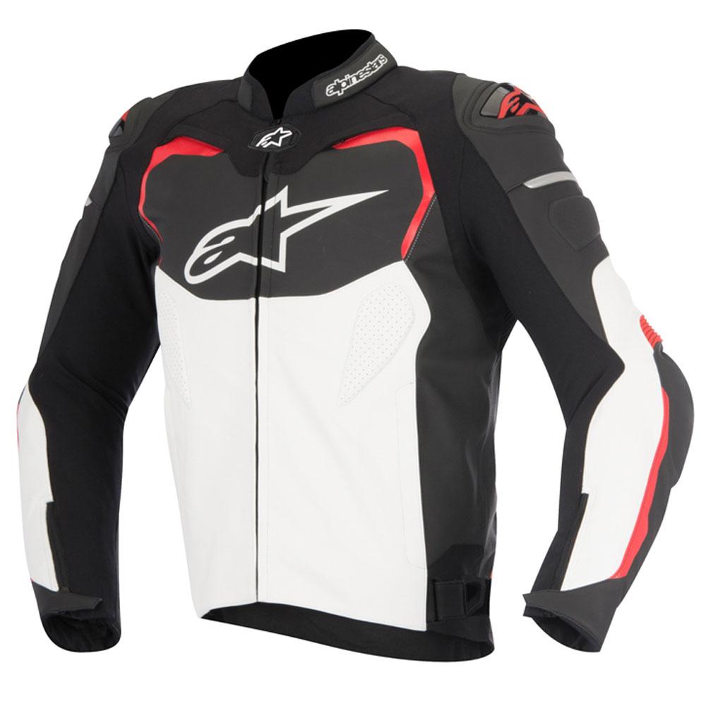 Jaqueta Alpinestars Couro GP Pro (Black/White/Red) - LANÇAMENTO  - Nova Suzuki Motos e Acessórios