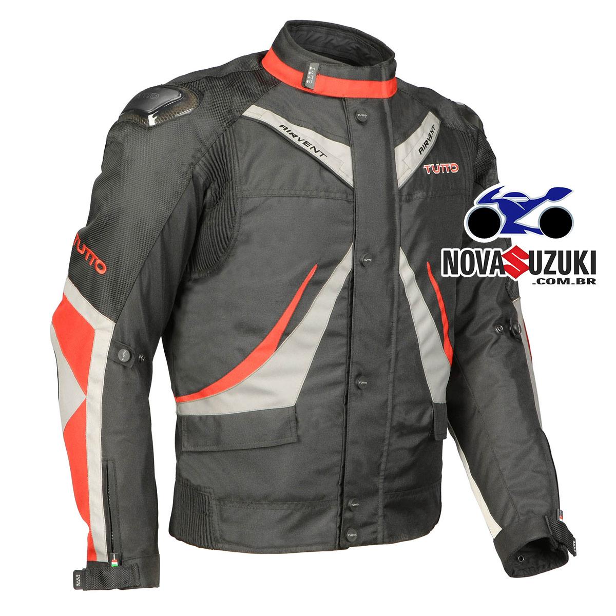 Jaqueta Tutto Napoli Vermelha (Mais Vendida) Secca  - Nova Suzuki Motos e Acessórios