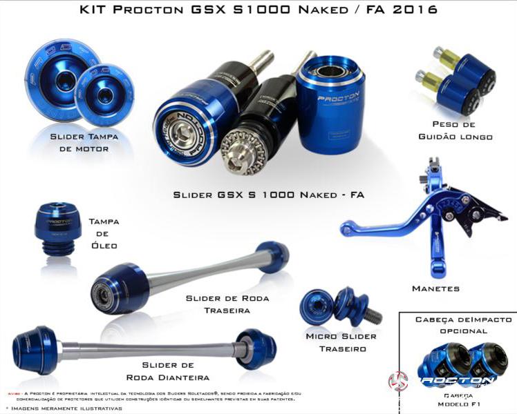 KIT Procton GSXS1000A(naked) / GSXS1000F  - Nova Suzuki Motos e Acessórios