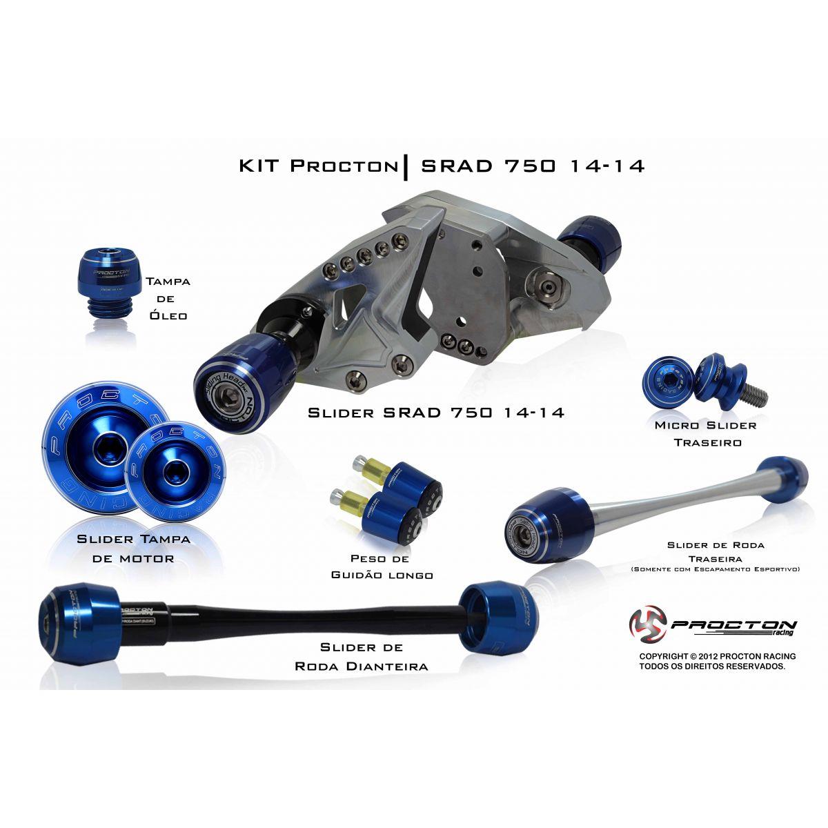 KIT Procton Suzuki SRAD750 07-13  - Nova Suzuki Motos e Acessórios