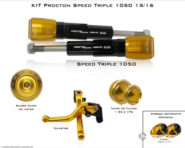 KIT Procton Triumph Speed Triple 1050  - Nova Suzuki Motos e Acessórios