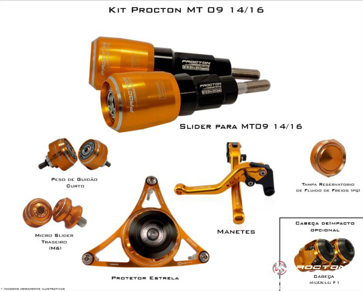 KIT Procton Yamaha MT 09 TRACER  - Nova Suzuki Motos e Acessórios