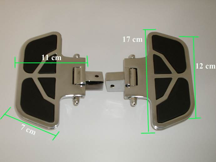 Plataforma Traseira Mini FMV p/ Boulevard Preta (escolha a moto)  - Nova Suzuki Motos e Acessórios