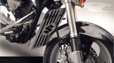 Protetor de Radiador COBRA para Boulevard M1500 Cromo  - Nova Suzuki Motos e Acessórios